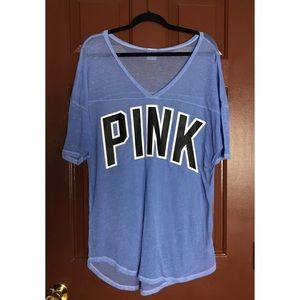 Victoria's Secret Pink Periwinkle Sheer Top